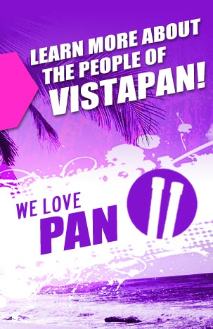 we love pan at vistapan steelpans